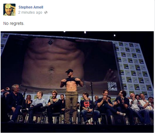 Stephen Amell SDCC No Regrets