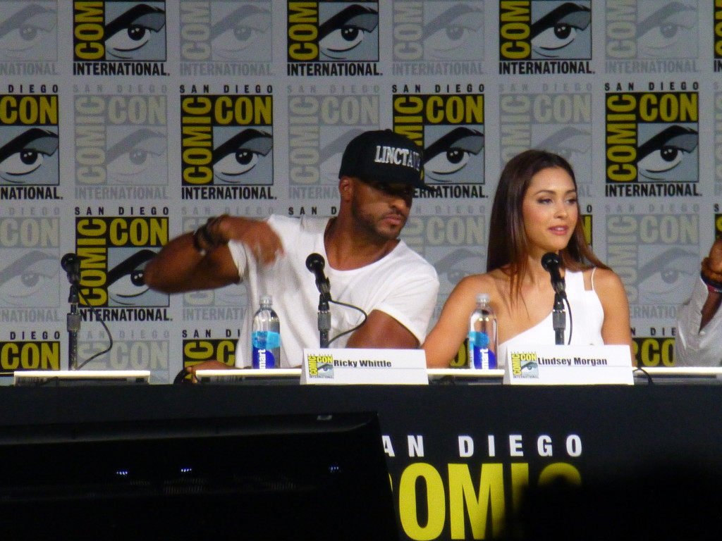 Ricky Whittle and Lindsey Morgan