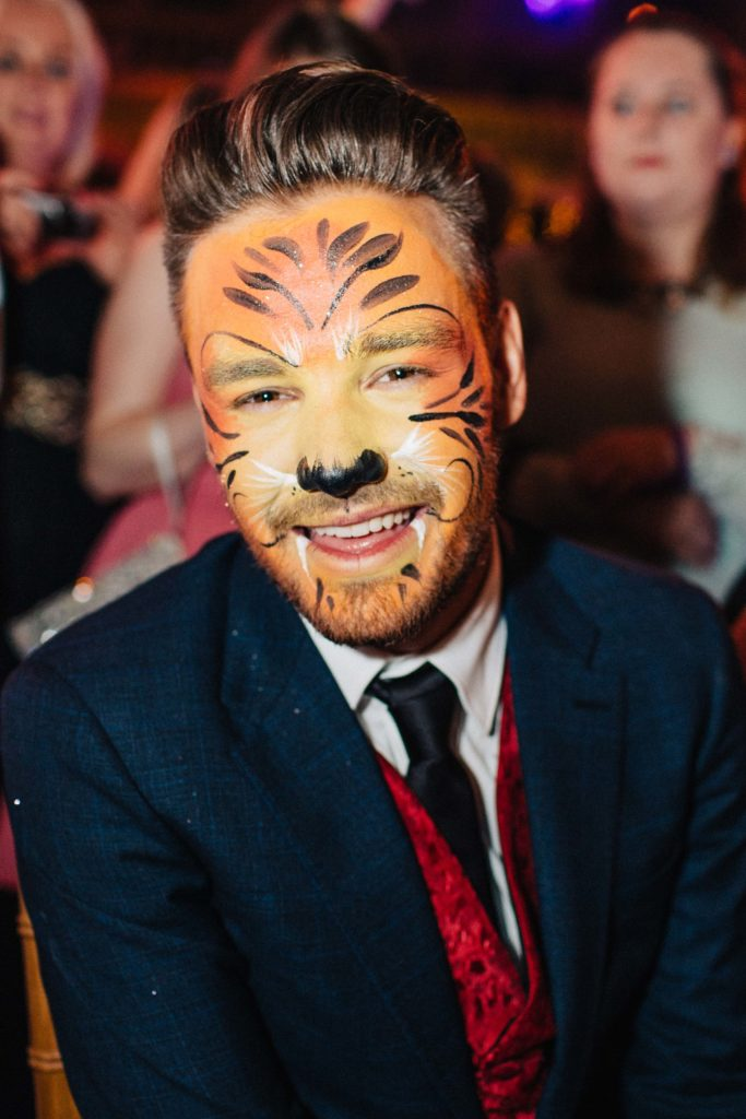 He even got his face painted like a fairy lion for charity, that amazing sport
